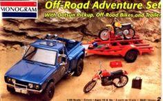 Mogram Off Road Adventure Set  Datsun Pick-up Bikes and Trailer box art