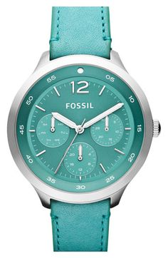 Fossil 'Editor' Leather Strap Watch available at #Nordstrom