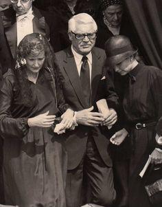 Cary Grant and Barbara Harris Grant at the funeral of Princess Grace, 1982