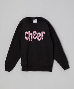 Black 'Cheer' Bubbles Sweatshirt - Girls & Women by Dance World Bazaar #zulily #zulilyfinds