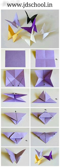 Make butterfly step by step ~ Crazzy Craft