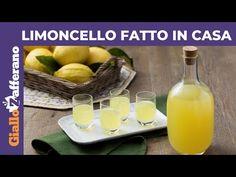 Limoncello rețeta italiană de lichior de lămâie preparat acasă. Cum se face limoncello sau limoncino de casă din coji de lămâi netratate (BIO Limoncello, Italian Cooking, Sorrento, Macedonia, Beverages, Food, Youtube, Home, Syrup