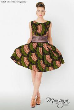Pour un joli cortège coloré : La robe en Wax   My Cultural Wedding Chic