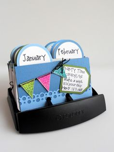Birthday calendar rolodex! Have to do this!!!