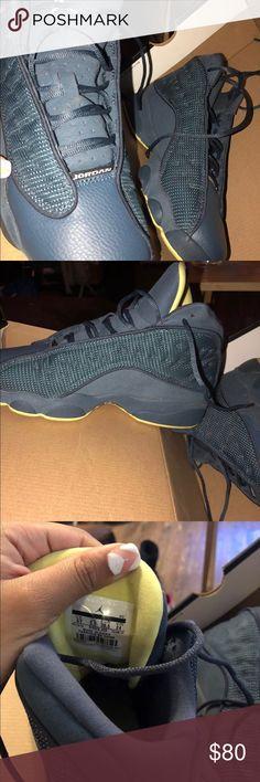 Jordan's Retro 13 Air Jordan Retro 13 Blue Electric Yellow Yellow - Black   *Price can be lowered* SIZE 6 IN YOUTH * Jordan Shoes Sneakers