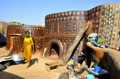 African Architecture and Design: African Frescoes. North West Africa.