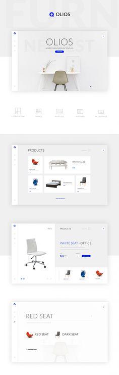 Olios PSD Template Free Web Design, Creative Web Design, Web Design Trends, Page Design, Layout Design, Free Website Templates, Psd Templates, Web Grid, Ecommerce Web Design