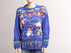Ugly Christmas Sweater. Funny Christmas Sweater. Holiday Vintage Christmas Sweaters, Vintage Sweaters, Ugly Christmas Sweater, Have A Happy Holiday, Lace Denim Shorts, Vintage Outfits, Vintage Fashion, Collar Shirts, Boho Chic