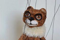"Bear Fandie Marionette. Lifelike handmade clay puppet 7"" #AxaMarionettes #Dolls"