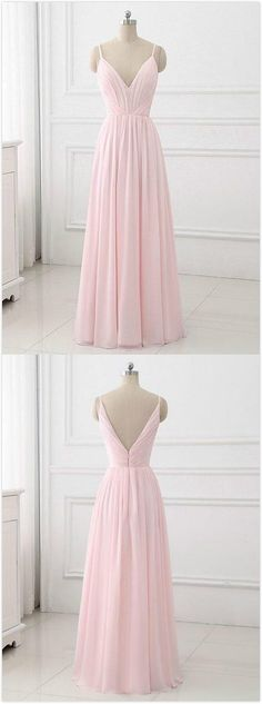 Simple Prom Dress,Pink A-Line Prom Dress,Cheap Prom Dress,Spaghetti