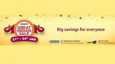 Amazon Great Indian Sale Starts Today.