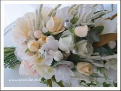 Bridal bouquets with silk flowers