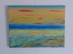 2015 - Ostseestimmung Acryl auf Leinwand 30 x 40 cm #Ostsee #Summerfeeling #Acrylgemälde #KunstaufLeinwand #Kirsche-Art Painting, Art, Art On Canvas, Cherry, Lighthouse, Mood, Baltic Sea, Idea Paint, Pictures