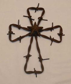 .barbed wire cross