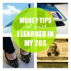 Money Tips I Wish I Learned in My 20s. Some of these I already follow and some are just good reminders. The one I need to strive for is maxing out my 401k contribution. (Does compounding interest mean anything to you??) #goodtips #savemoney #finances