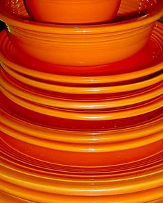 Fiestaware is perfect. Love the many colors!
