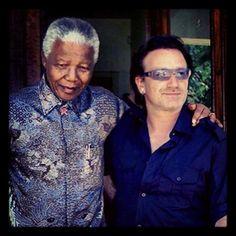 Madiba & Bono: Instagram photo by @rocksportstars (Rocksportstars)   Statigram