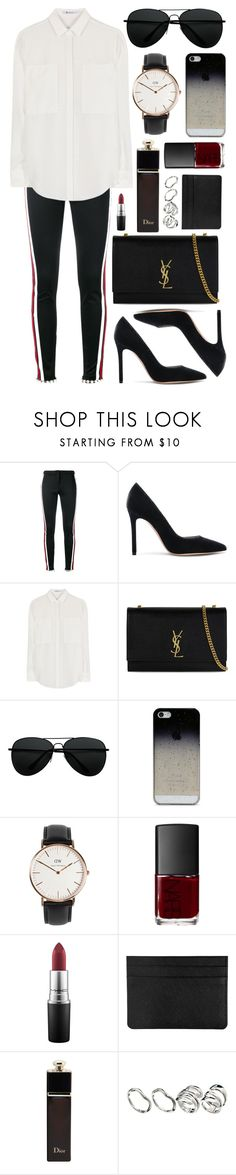 """""""Untitled #873"""" by clary94 ❤ liked on Polyvore featuring Gucci, Gianvito Rossi, T By Alexander Wang, Yves Saint Laurent, BlissfulCASE, Daniel Wellington, NARS Cosmetics, MAC Cosmetics, Christian Dior and ASOS"""