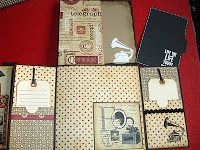 Muddy Footprints: Graphic 45 Le Communique Mini Album and mini album storage box