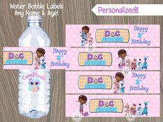 Etiqueta de la botella de agua de doc McStuffins Doc por CutePixels