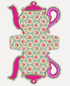 Shabby Chic Teapot Free Printable Boxes [D/L] Printable Box, Free Printables, Wonderland Party, Alice In Wonderland, Paper Tea Cups, Shabby Chic Paper, Mad Hatter Tea, Tea Art, Paper Dolls