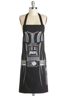 Darth Baker Apron. The Force will be with you in the kitchen when you don this Darth Vader apron to whip up an array of desserts for tonights dinner party! #black #modcloth