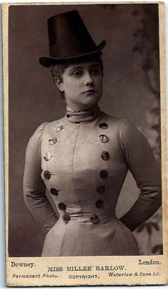 Billie Barlow, burlesque actress.  c.1880's