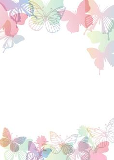 """""""Cute butterflies"""": """"Mariposas all around"""" letter pad Cute Wallpapers, Wallpaper Backgrounds, Iphone Wallpaper, Image Pinterest, Printable Border, Scrapbook Paper, Scrapbooking, Boarders And Frames, Butterfly Background"""