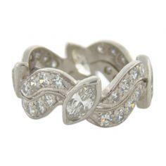 Art Deco Diamond Band Fourtane