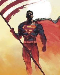Superman by Dave Seguin. The Superman I know and love -- the one that stands for Truth, Justice, and the American Way. Not the New 52 Superman. That one is heartless and not honorable at all Comic Book Characters, Comic Book Heroes, Comic Character, Comic Books Art, Action Comics, Dc Comics Art, Hq Marvel, Marvel Dc Comics, Batman And Superman