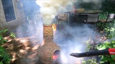 My dad and I were playing with a leafblower and chiminea, my mom was not pleased. Spass mit dem Laubbläser und dem Gartenkamin was first seen on Dravens Tales from the Crypt.