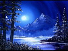 Rockies Moonlight (5x7) / Simple Oil Painting Exercise for Beginners - YouTube