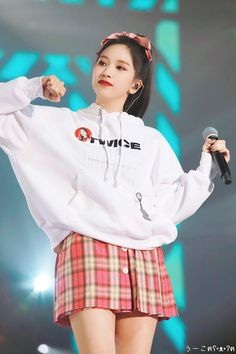 Myoui Mina Twice Kpop Korea Cute Aegyo Concert Stage