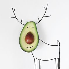 'Rudolph, the stone nose reindeer had a very shiny nose... 😜' #Christmas seems to be hiding everywhere, even inside avocados! ⚠️ Looks like my Christmas cards for friends and family are sorted though 😬 #advent #xmas #illustration⠀ .⠀ .⠀ .⠀ .⠀ #madebyhelga #xmascard #christmascard #sharpie #drawing #artist #avocado #healthyfood #foodpresentation #fiveaday #cute #mompreneur #parenting #preschool #toddler #deer #reindeer #seasonal #seasonsgreetings #simple #artdirection #cool #picoftheday…