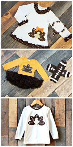 Football and Thanksgiving go hand in hand!  Our adorable new collection for the family celebrates the best of both worlds!  Thanksgiving outfits rom $11.70 and available for one week only!