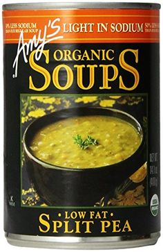Amys Light in Sodium Organic Soups Low Fat Split Pea 141 oz -- Check this awesome product by going to the link at the image. (Note:Amazon affiliate link)