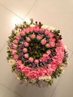 Carnation Espiral/ Claveles en espiral