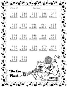 addition with regrouping worksheets with a Halloween theme! Math Practice Worksheets, Teacher Resources, Math Sheets, Math Practices, Teacher Tools, Printable Worksheets, Math Centers, Halloween Themes, Teaching Kids
