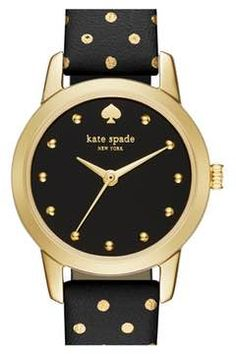 Alternate Image 1 Selected - kate spade new york 'mini metro' leather strap watch, 26mm
