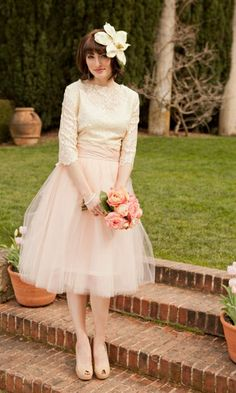 Vintage Tulle Skirt | Blushing Bride