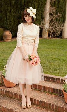 Vintage Tulle Skirt   Blushing Bride