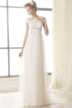 ir de bundo bridal 2015 londres illusion cap sleeve wedding dress empire waist line