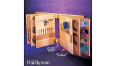 23 Ideas to store your DIY tools for easy access - Creatistic Jet Woodworking Tools, Woodworking Crafts, The Family Handyman, Wire Switch, Workshop Organization, Cool Tools, Plywood, Office Supplies, Cool Stuff