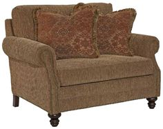 Bayhill Traditional Chair & a Half with Turned Wood Feet by Kincaid Furniture - Becker Furniture World - Chair & a Half Twin Cities, Minneapolis, St. Paul, Minnesota