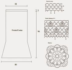 Material:   Círculo – Charme – 4 nov. marrom (7311);   Ag. para crochê Círculo nº 3mm;   210 cm de elástico redondo para o cós.   ...