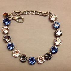 Sabika inspired Swarovski crystal bracelet Mariana like on Etsy, $44.99 Swarovski Crystal Necklace, Swarovski Jewelry, Crystal Bracelets, Crystal Jewelry, Beaded Earrings, Swarovski Crystals, Marianna Jewelry, Handmade Bracelets, Jewelery