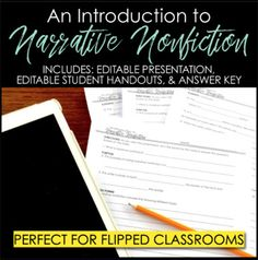 Narrative Writing: Introduction to Narrative Nonfiction Presentation School Resources, Teacher Resources, Teaching Ideas, Teaching Language Arts, Teaching English, Narrative Writing, Writing Prompts, Literary Nonfiction, Common Core Writing