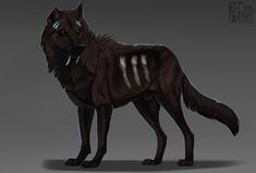 Rohgir by Chickenbusiness on DeviantArt Wolf Design, Animal Design, Fantasy Creatures, Mythical Creatures, Cool Wolf Drawings, Wolf Name, Predator Art, Bird People, Fantasy Wolf