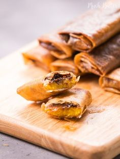 Chocolate Banana Spring Rolls With Bananas, Chocolate Sprinkles, Spring Rolls, Water, Cooking Oil Banana Spring Rolls, Chocolate Sprinkles, Frying Oil, Egg Rolls, Cooking Oil, Rolls Recipe, Meal Planner, Meals For The Week, Dinner