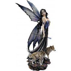 Nemesis Now Ebony /& Ivory Companion Fairy Wolves Wolf Figurine Gothic Home Gift